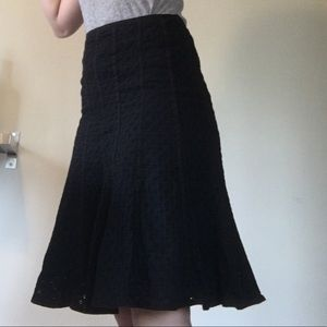 Liz Claiborne Skirts - Liz Claiborne Eyelet knee length skirt